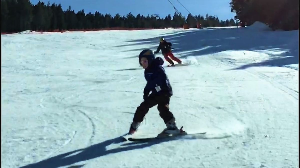 Esquiando con niños