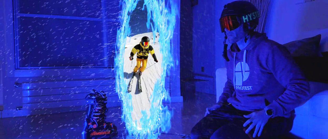 He esquiado sin saltarme el confinamiento!