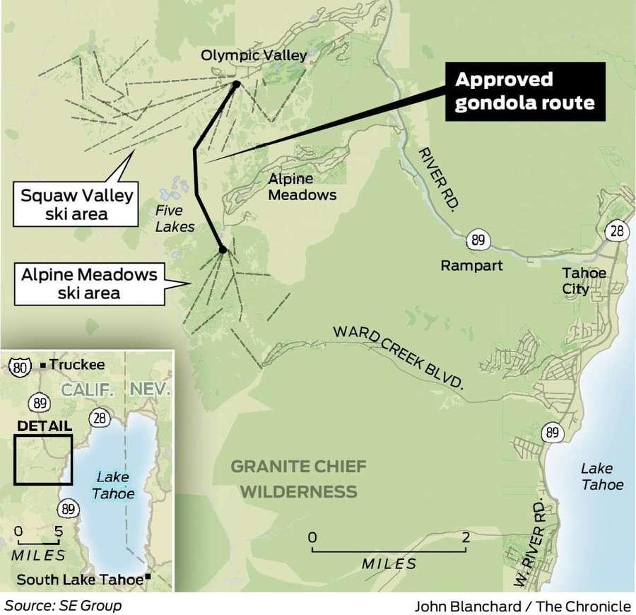 Telecabina Alpine Meadows Squaw Valley