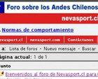 Nuevo Foro Andes Chilenos