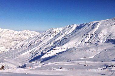 Fotos del paquetón de nieve en los centros de ski