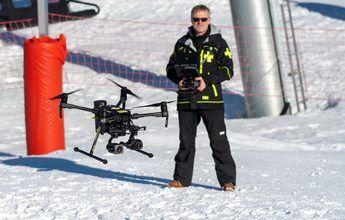 Val Thorens tendrá un dron para rescate y advertencia a esquiadores