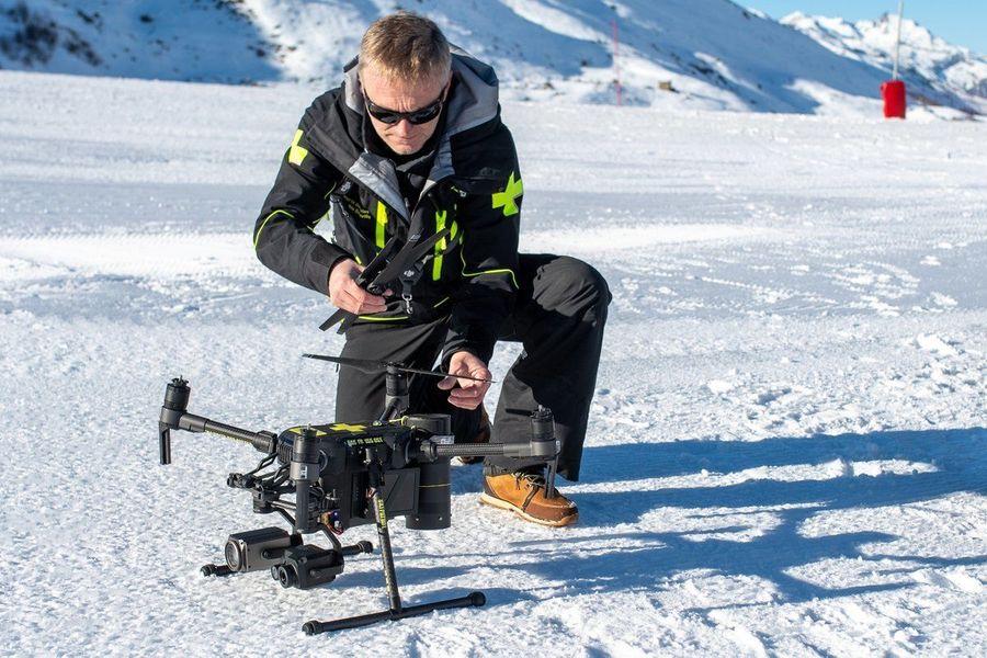 Val Thorens drone de rescate