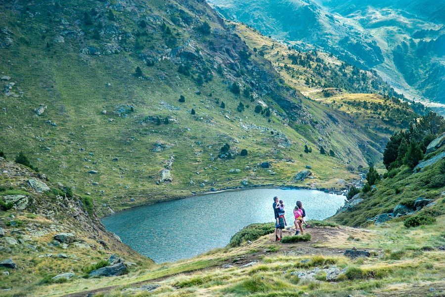 Forografia de las montañas de Ordino Andorra