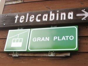 Cartel del Telecabina del Gran Plató