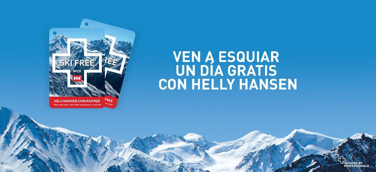 Esqui gratis con Helly Hansen