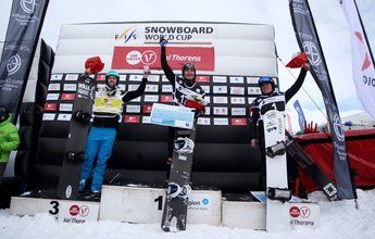 Lucas Eguíbar se sube al podio de la Copa del Mundo SBX de Val Thorens