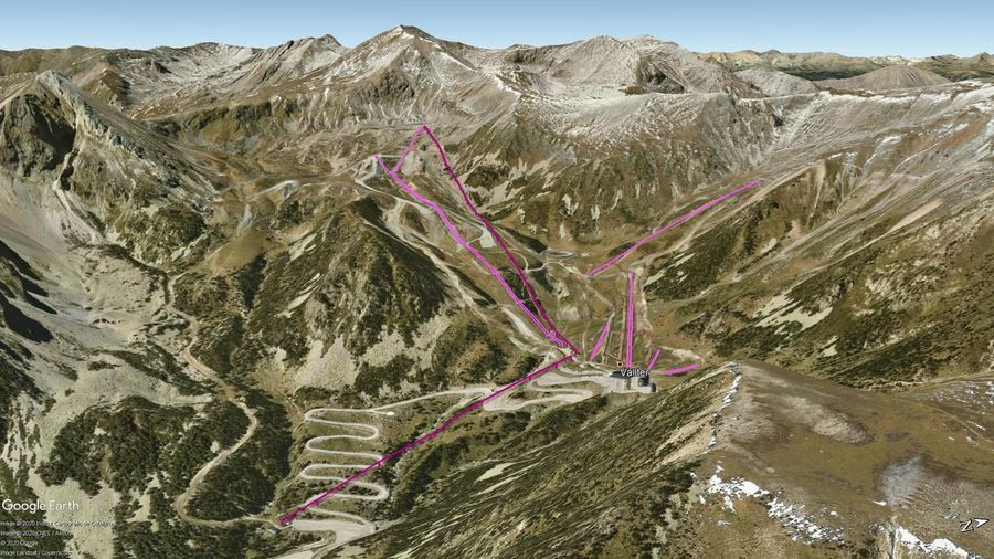 Vista Google Earth Vallter Temporada 2020/21