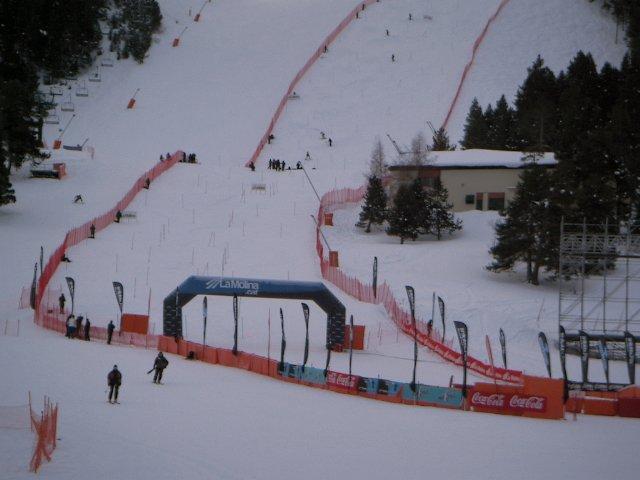 Fotografía de la pista de slalom de la copa del mundo en La Molina