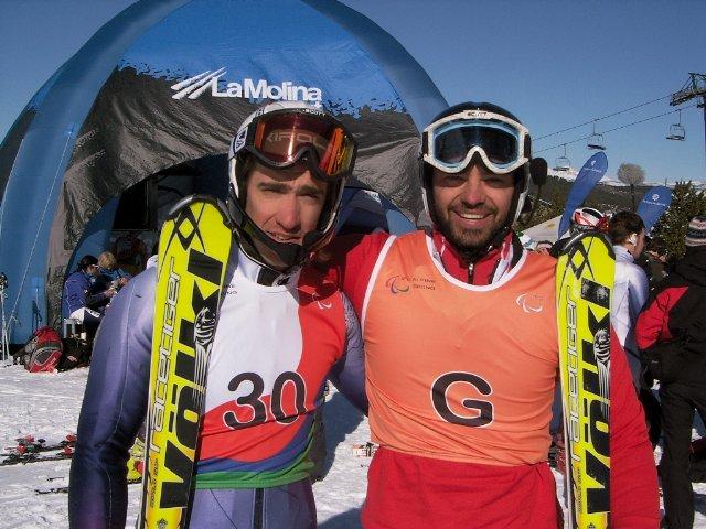 Fotografía de Jon Y Miguel después de la segunda manga, ya declarados campeones