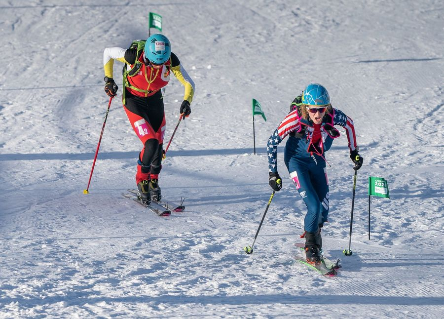 Relevos mixto español esqui montaña Lausana 2020