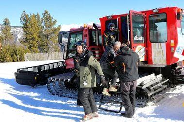 Espot reabre con cinco pisapistas para transportar esquiadores
