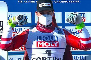 Vincent Kriechmayr se cuelga su segundo oro en Cortina al imponerse en el Descenso