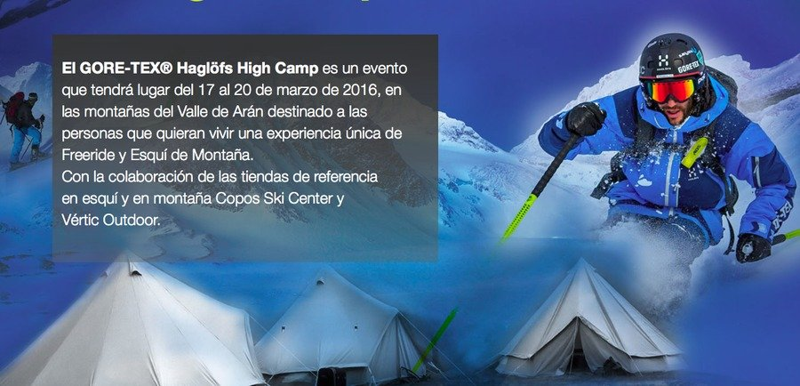 Últimas plazas disponibles para el HIGH CAMP