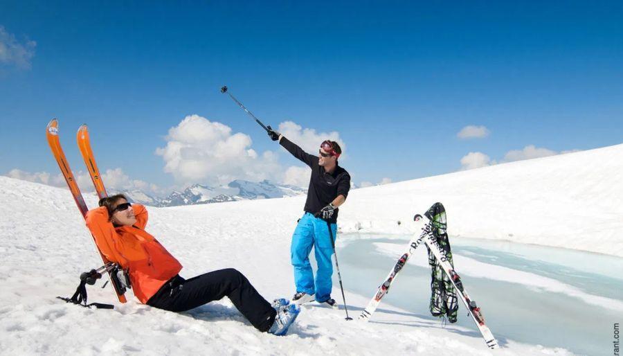 esquí de verano en glaciar