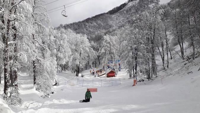 Cae más nieve en Nevados de Chillán