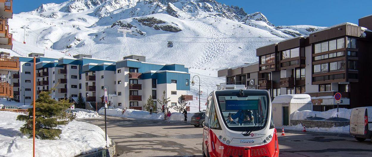 Val Thorens incorpora el primer bus autónomo en una estación de esquí