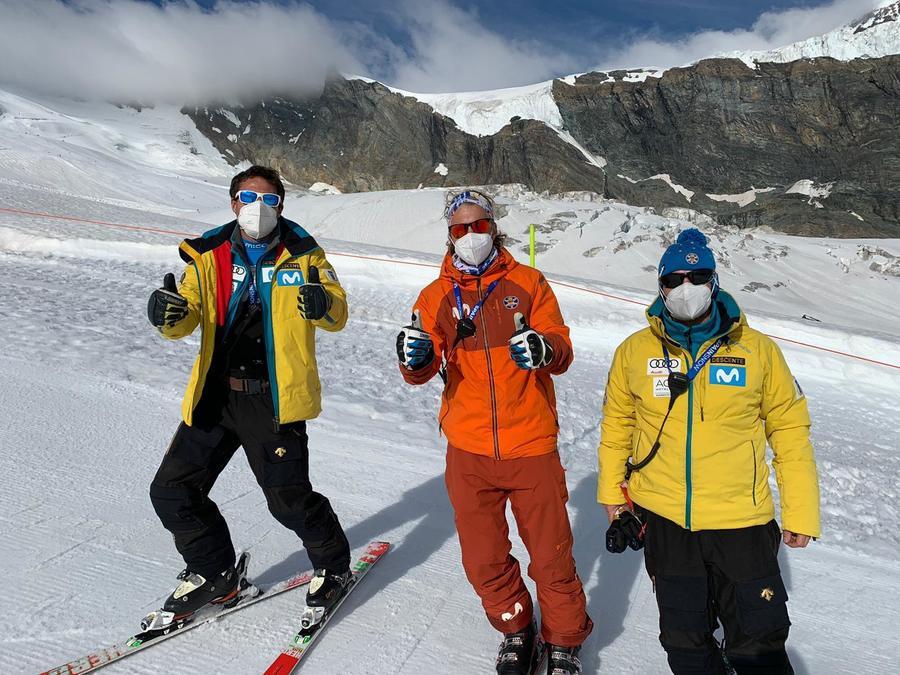 Casa España RFEDI Saas Fee entrenamientos esqui