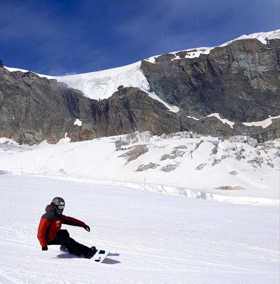 entrenamiento esqui rfedi saas fee verano