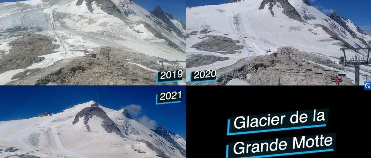 La evolución del glaciar de Tignes en los últimos tres años