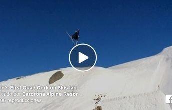 El primer quadruple cork de la historia realizado con esquís