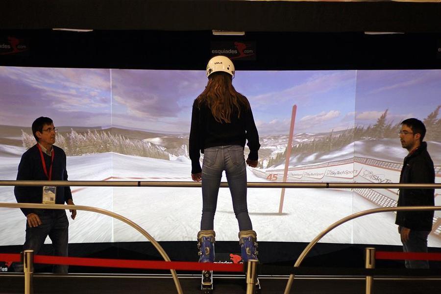 esqui virtual de esquiades