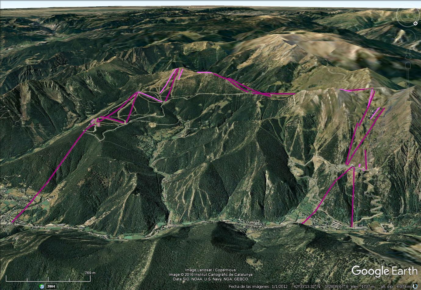 Vistas Google Earth Pal Arinsal (Vallnord)  2016-17