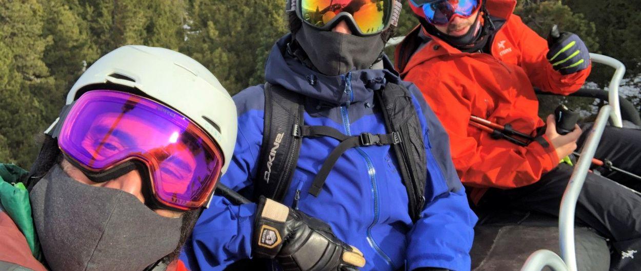 Primer día de esquí en la era COVID