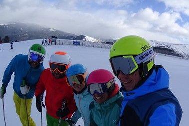 Esquiando con mucho frío