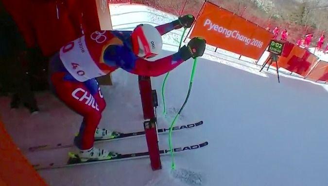 Henrik Von Appen termina 34º  el Descenso en Pyeongchang 2018