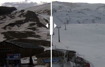 Así ha cambiado la imagen de Sierra Nevada en pocas horas