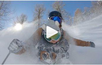 El freerider Nicolas Falquet lleva a su hijo de 17 meses a esquiar fuera pista