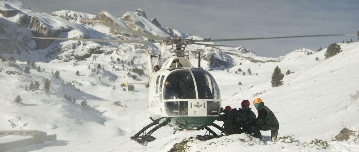 Esquiador accidentado en Huesca en plena emergencia nacional