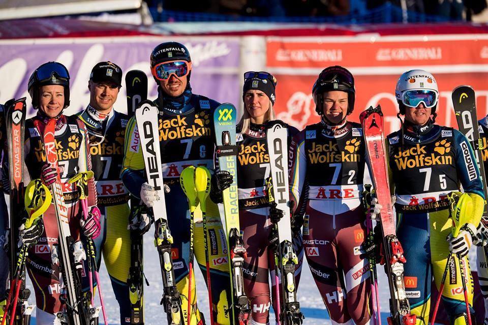 Equipo Oficial de Suecia de esquí alpino 2018-2019