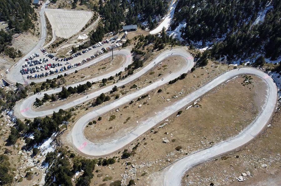 Carretera de acceso a Vallter 2000