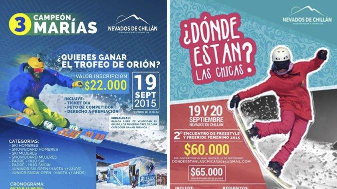 Competencias y Encuentros llegan a Nevados de Chillán