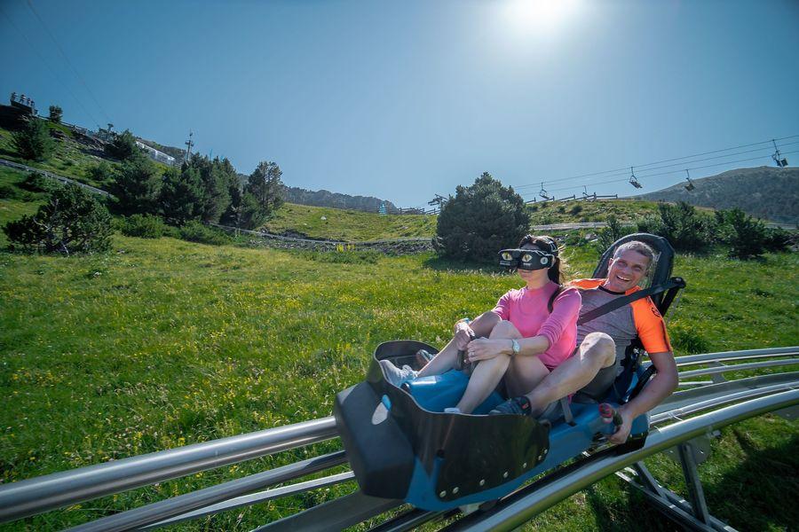 Magic Gliss montaña rusa de Grandvalira en verano