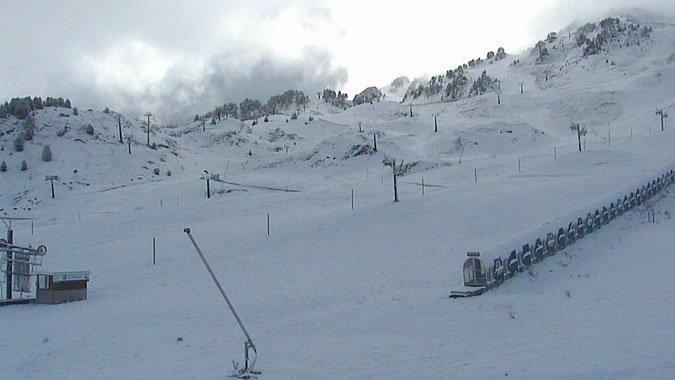Imágenes de la nevada en el Pirineo