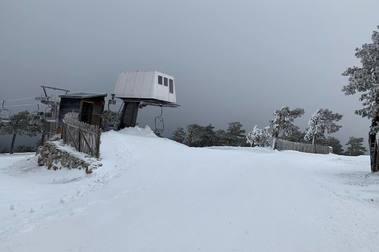 La estacion de esqui de Navacerrada recibe su primer traspié para abrir