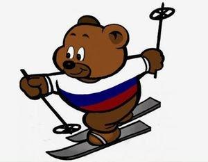 Osito esquiador de Sochi-2014