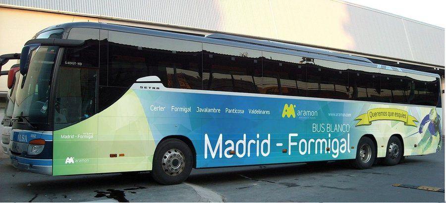 Bus Blanco Madrid-Formigal-Panticosa