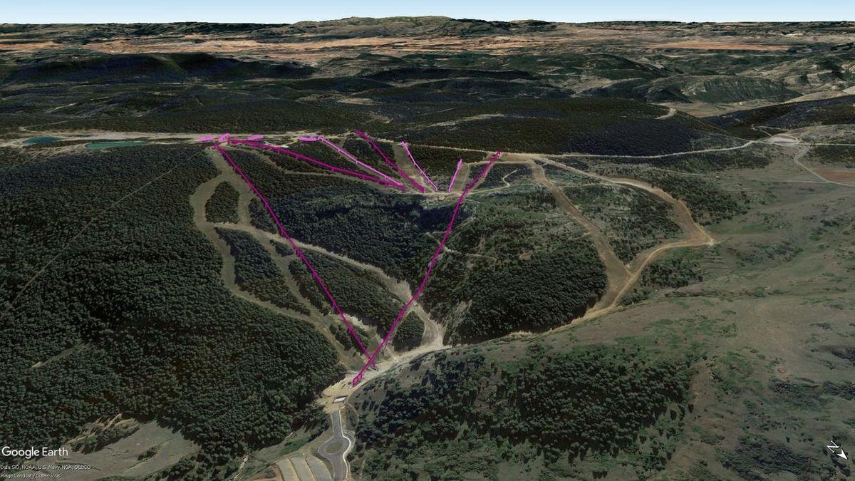 Vistas Google Earth Valdelinares 2018-19