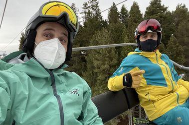 Primer día de la COVID-TEMPORADA de esquí.