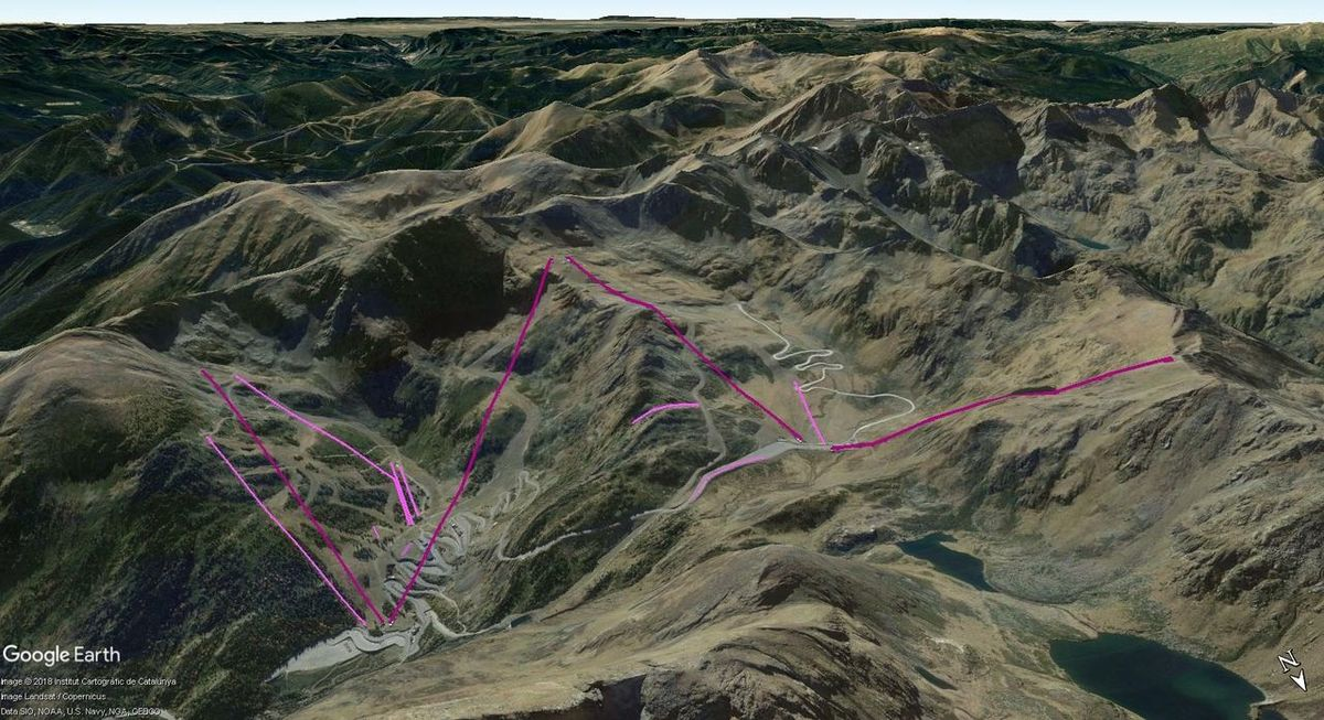 Vistas Google Earth Arcalís 2017-18