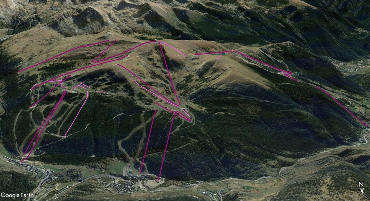 Vistas Google Earth Soldeu-El Tarter-Canillo 2017-18