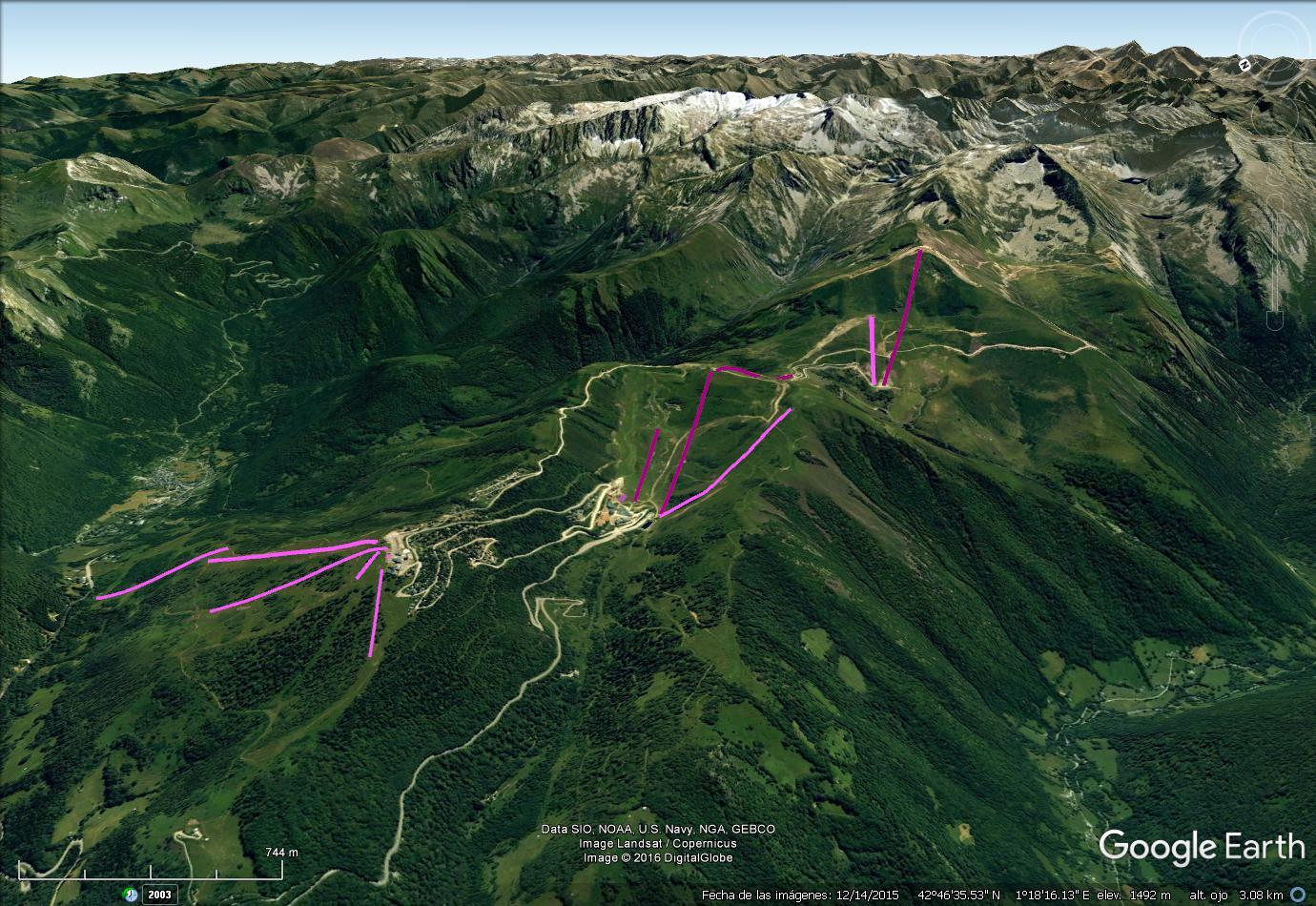 Vistas Google Earth Guzet Neige  2016-17
