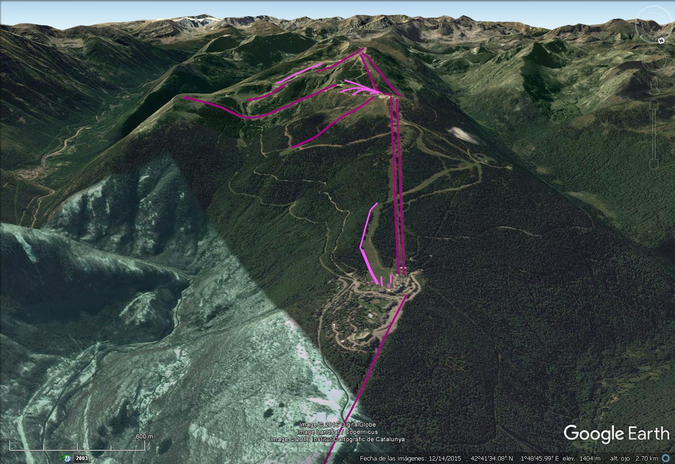 Vistas Google Earth Ax les Thermes  2016-17