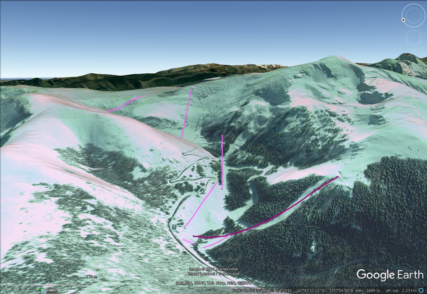 Vistas Google Earth Ascou  2016-17