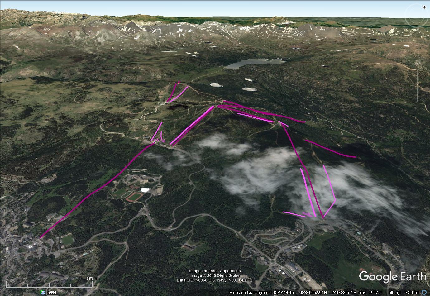 Vistas Google Earth Font Romeu - Pyrénées 2000 2016-17