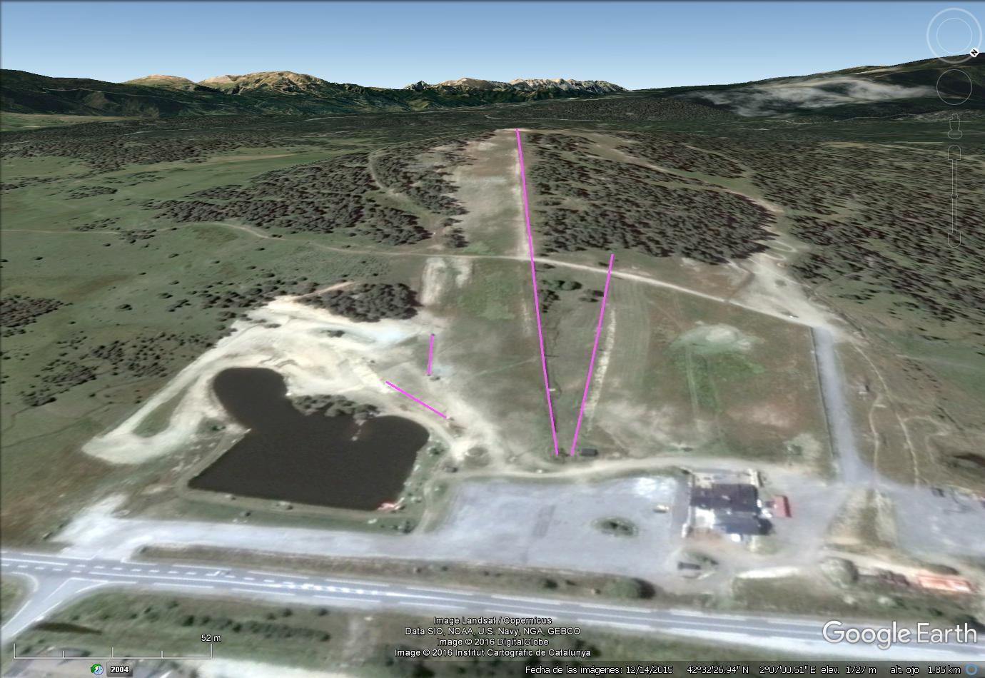 Vistas Google Earth  La Quillane  2016-17